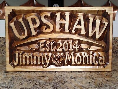 Personalized Wedding Gift (Personalized Wedding Gift Established Date Family Name Anniversary Gift)