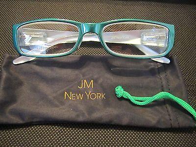 JM New York Reading Glasses +1.50 Emerald Green Jewel-Tone Spring Joy Mangano