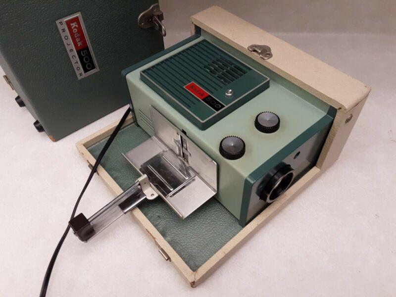 Kodak 500 Slide Projector Vintage Model B Portable Working Eastman Kodak Company