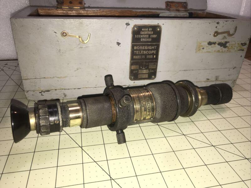 US Navy Telescope mark 75  Mod B 1944 Gaestner Scientific Corp (Vintage)