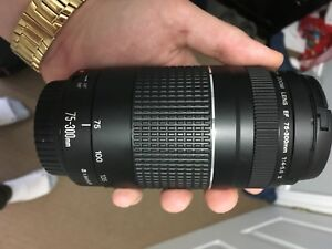Cannon 75-300mm Lens for sale. Perfect condition.