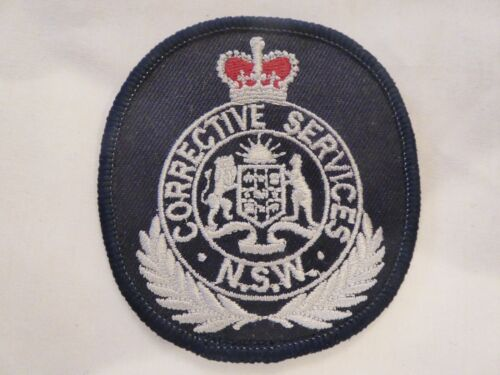 NEW SOUTH WALES AUSTRALIA CORRECTIVE SERVICES UNIFORM EMBLEM PATCH, NEW UNUSED!