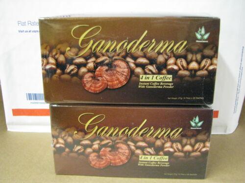 Ganoderma Coffee 4 -1 Creamer & Sugar 40 pks - 4 in 1, Healthy Coffee ship saver