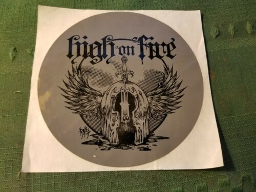 "Early Promotional High on Fire Sticker 4-1/2"" Unused"