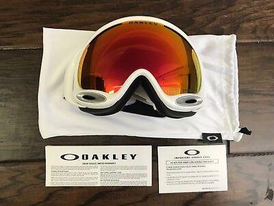 d8c67199141 Oakley A Frame 2.0 Polished White Prizm Torch Iridium Ski Snowboard Snow  Goggles
