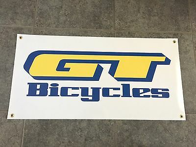 GT Bicycles banner sign shop wall garage bicyle BMX mountain bike cruiser jump
