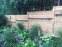 Fence deck chain link installers