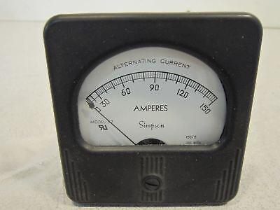 Simpson Alternating Current Amperes Meter