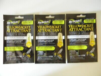3 Rescue Yellow Jacket Trap Attractant Pest Control YJTA 4 Week Ea 3 packs 3 Pack Pest Control