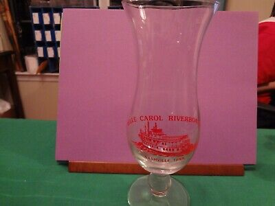 BELLE CAROL RIVERBOAT CO. NASHVILLE, TENN. SOUVENIR HURRICANE GLASS