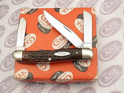 Case XX USA 3 Dot 1977 63047 Premium Stock Knife Chestnut Bone MINT
