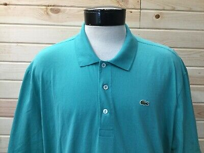 Lacoste Polo Shirt Mens Size 8 XXXL 3XL Blue Teal
