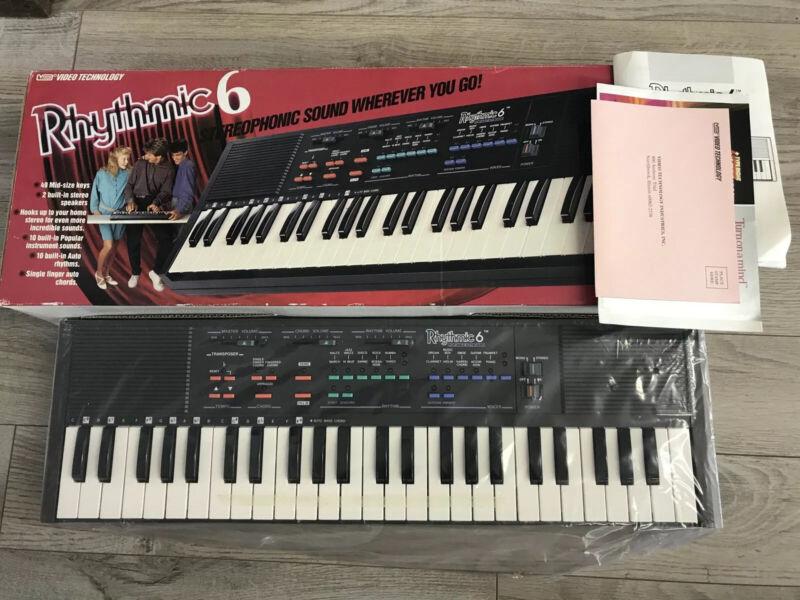 Rhythmic 6 Retro Portable Keyboard 1988 Vtech New Old Stock 1980s Vintage
