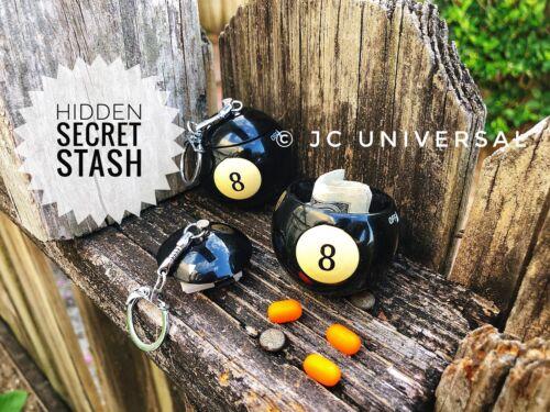 Billards Pool Black 8 BALL Key Chain Stealth Discreet Hidden Secret Stash
