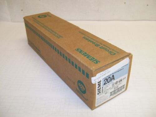 NEW LOT BOX OF 12 Siemens ITE Q120 1POLE 20A PLUG-ON BREAKERS FREE SHIPPING