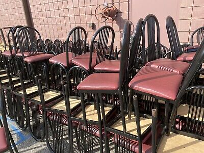 Restaurant Tables Chairs Tubular Metal Chairs Wpadded Seats Nice Tables