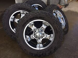 "20"" Core Racing Chrome Rims 35"" tire for Ram 3500"