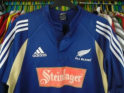 NEW ZEALAND ALL BLACKS CHANGE 2004 adidas RUGBY SHIRT JERSEY TOP LARGE ADULT