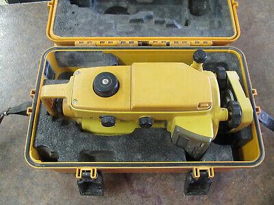 Topcon Dt-20b Theodolite Transit Level In Case