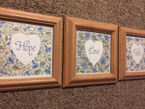 Set of three picture frames