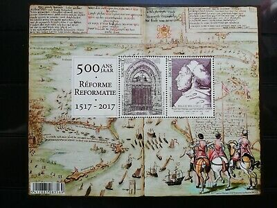 500 ans/jaar réforme/reformatie 1517-2017 stamp timbre Belgique/Belgium
