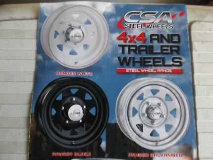 CSA  RANGER 4X4 AND TRAILER WHEELS. LARGE RANGE. FROM $65 -$150 Edwardstown Marion Area Preview