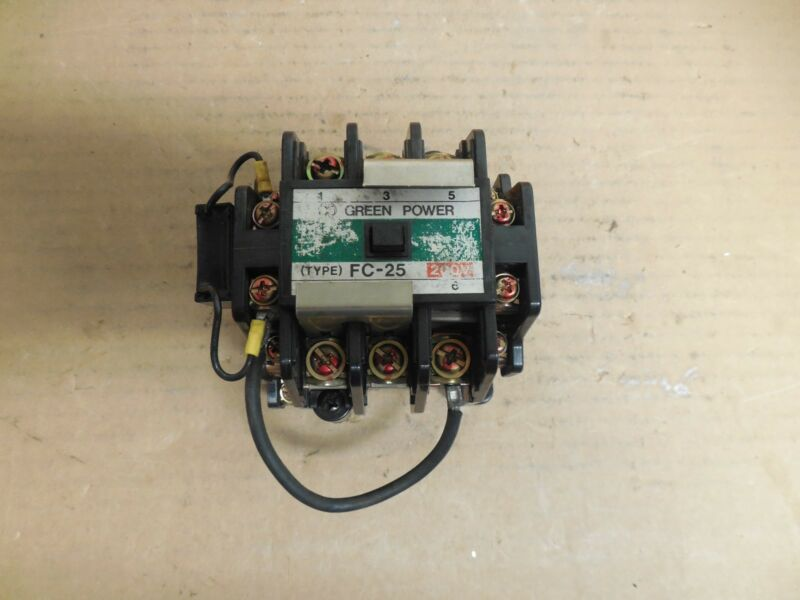 MATSUSHITA CONTACTOR BMF6-25-2 200V COIL TYPE FC-25 BMF6252