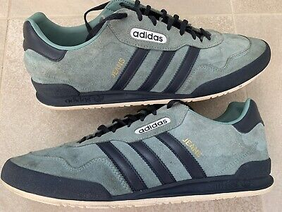 ADIDAS ORIGINALS SUPER JEANS GREEN SUEDE TRAINERS, SIZE 11.5