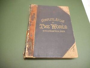 BACONS COMPLETE ATLAS OF THE WORLD 124 MAPS C1891