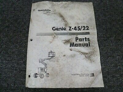 Genie Z4522 Articulating Rough Terrain Boom Aerial Lift Parts Catalog Manual