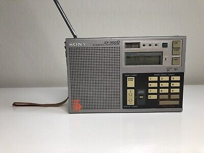 Sony ICF-7600D Digital Portable World Radio Receiver -Tested