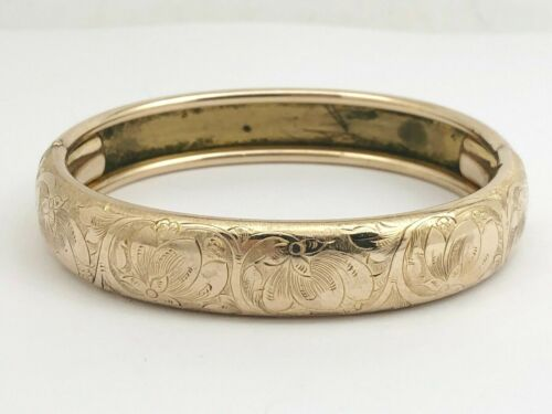 Beautiful Gold Filled Etched Bangle