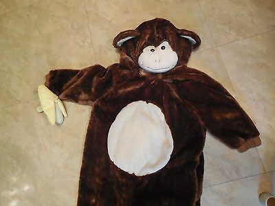 One Piece Monkey Holding a Banana Halloween Costume- Size  12-24 Months