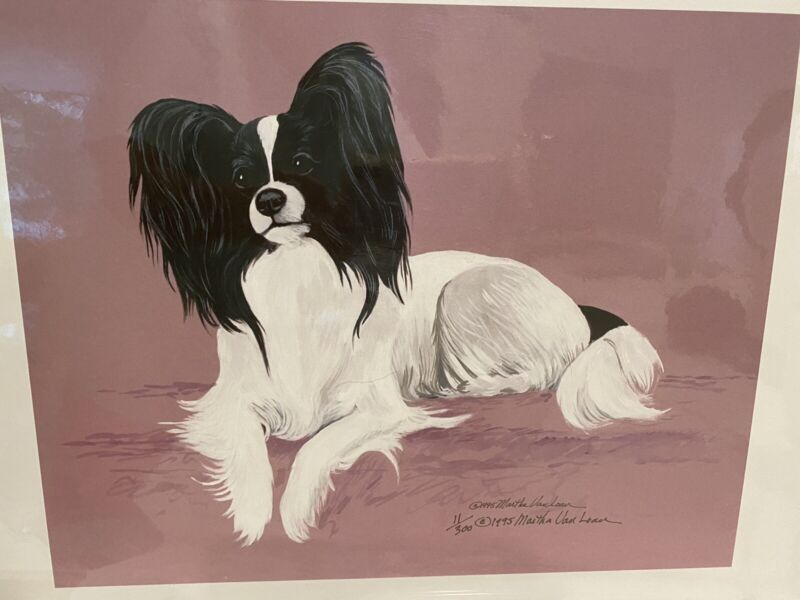 Papillon Ltd Ed Signed 11x14 Print By Van Loan