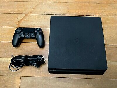 Sony PlayStation 4 Slim 500GB Black Gaming Console with Controller