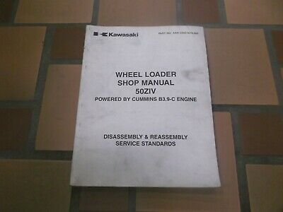 Kawasaki 50ziv Wheel Loader Shop Service Repair B3.9-c Cummins Engine Manual
