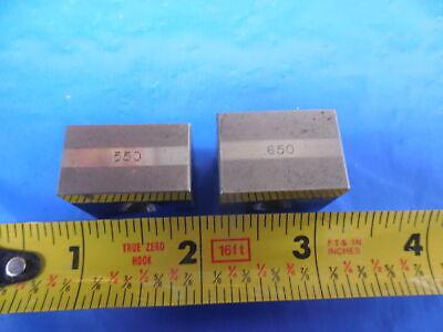 .550 .650 Pw Stackable Gage Block Machinist Bridgeport Milling Machine
