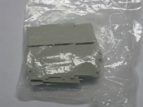 lot of 17 New Wieland Terminal block end plate covers 07.312.9055.0 D2/2 WKFN