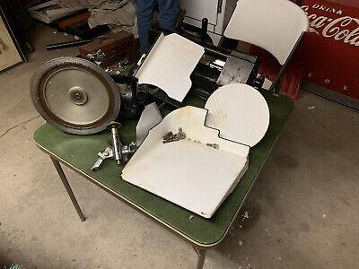 Vintage Globe Slicing Machine Porcelain Cast Meat Slicer