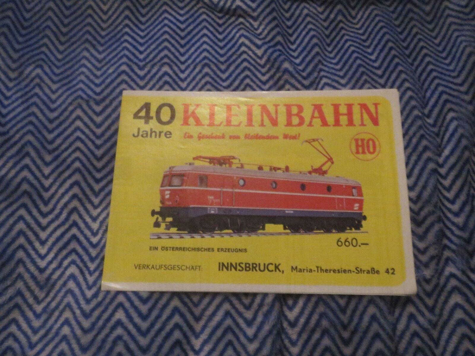 40 KLEINBAHN JAHRE HO MODEL TRAIN TRAINS SALES BROCHURE ORIGINAL GERMAN VINTAGE
