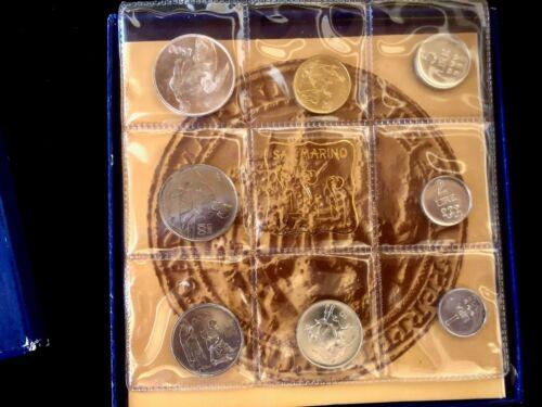 1972 SAN MARINO  OFFICIAL MINT BU SET (8) PCS WITH SILVER 500 LIre