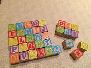 Abc wooden blocks Frenchs Forest Warringah Area Preview