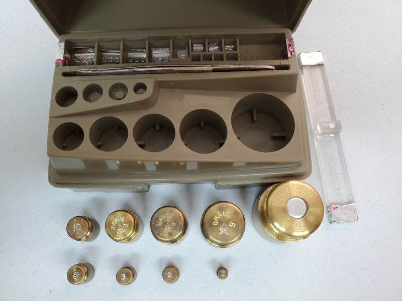 Vintage Ohaus Apothecary Metric Weight Set Brass Weights Complete Calibration