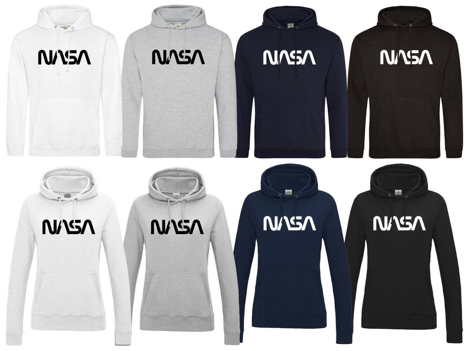 NASA Hoodie Kapuzenshirt Pullover Apollo Raumfahrt Weltall Space Mond The Worm