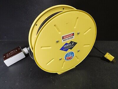 Used Nice Insul 8 High Voltage 50 Cord Reel 121120305011 300 Volts 6000w 9e