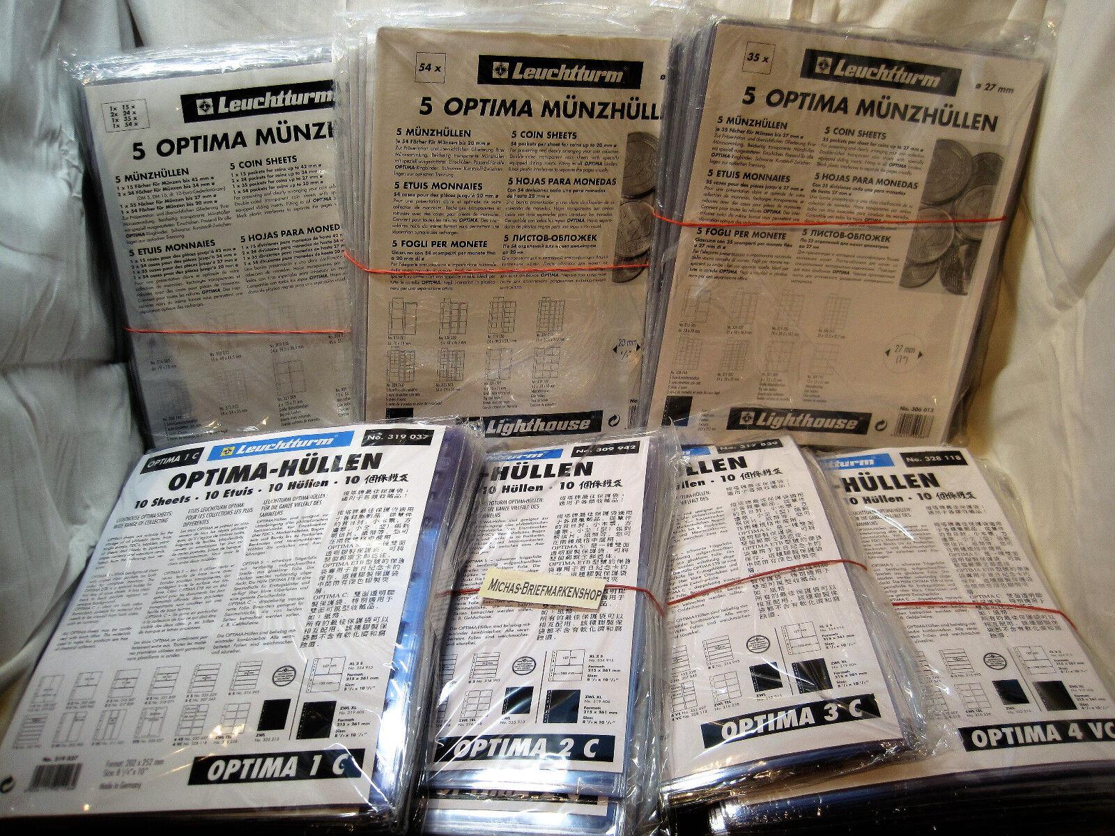 Leuchtturm OPTIMA Hüllen 10er Packungen Glasklar zur Auswahl