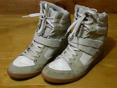 DC Mirage Tan/White Leather Skate Shoes (#320366) - Size 9.5 Women's