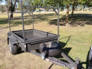 Box trailer 6ft x 4ft with ladder rack