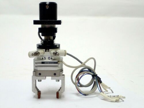 Smc Mdhr2-15r Rotary Actuated Air Gripper 2-finger, D-f9p Actuator, & Mag Switch