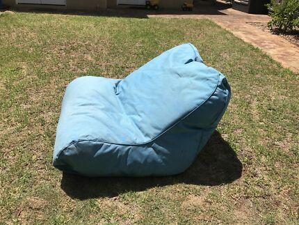 Blue Double Person Outdoor Bean Bag Lounger